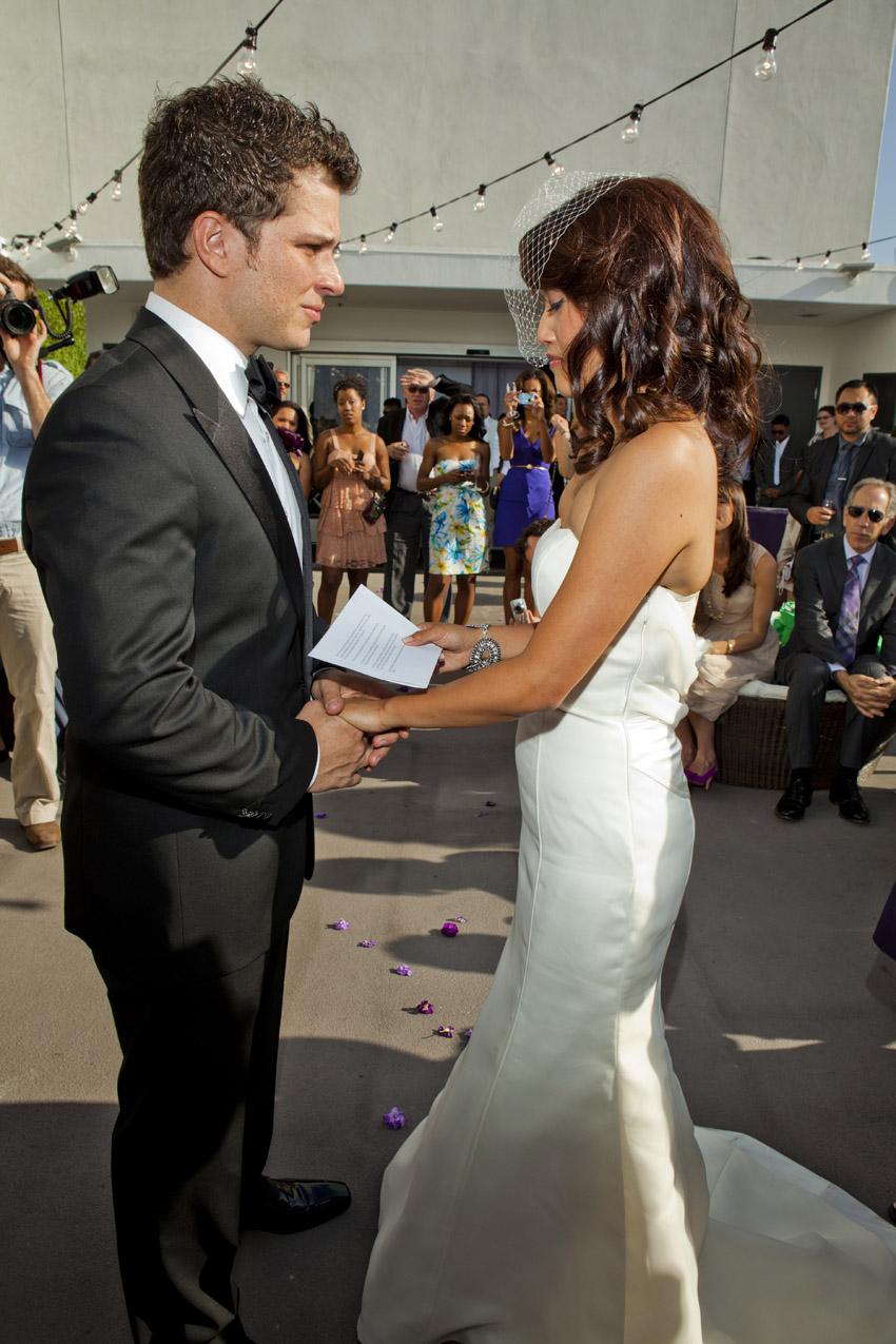 Enjoyable Cheryl Mark39S Old Hollywood Wedding Short Hairstyles Gunalazisus
